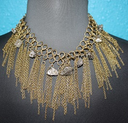 Gold Chain Necklace With Rock Detail