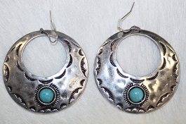 Silver Circle Earring With Cutout