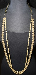 Long 2 Strand Gold  Necklace (80N12)