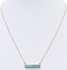 Turquoise Stone Bar Necklace