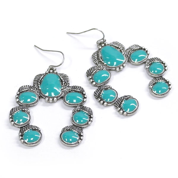 Turquoise Naja With Detail Earring