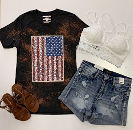 Acid Wash Flag T-Shirt