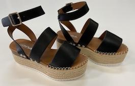 Black Strappy Platform Sandal
