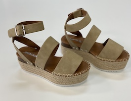 Taupe Strappy Platform Sandal