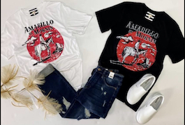 """Amarillo By Morning"" Basic Graphic T-Shirt"