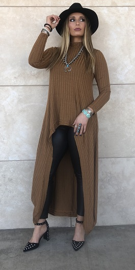 """TImeless Beauty"" Rust Hi Low Tunic"