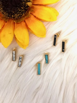 Stone Bar Earrings