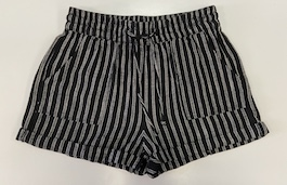 Black & White Pinstriped Shorts