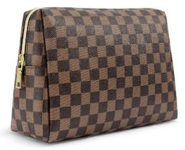 Checkered Luxe Cosmetic Bag