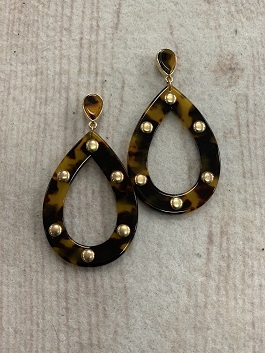 Brown Gold Studded Earrings