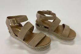 Taupe Double Strap Espadrille Sandal