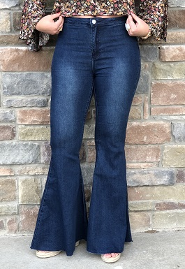 Dark Denim Super Flared Pants