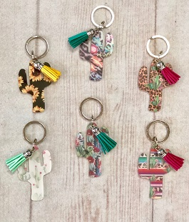 Cactus Key Chains