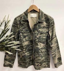 Camouflage Cargo Button Jacket
