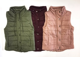 """""""Warm & Cute"""" Colored Quilted Vest"""