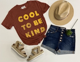 """Cool To Be Kind"" Graphic T-Shirt"