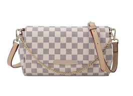 Luxe Checkered Clutch