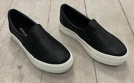 Black Leather Like Sneaker