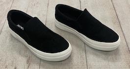 Black Suede Like Sneaker