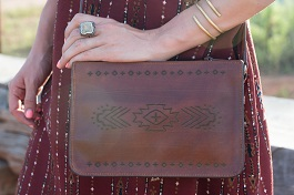 Genuine Leather Engraved Purse