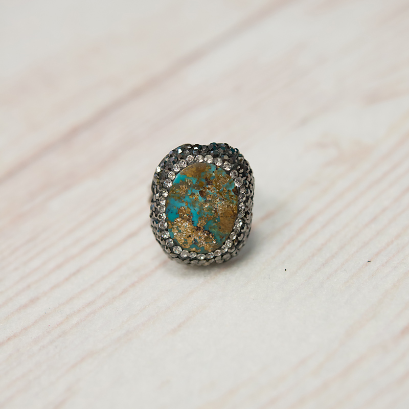 Turkish Turquoise Ring- Oval