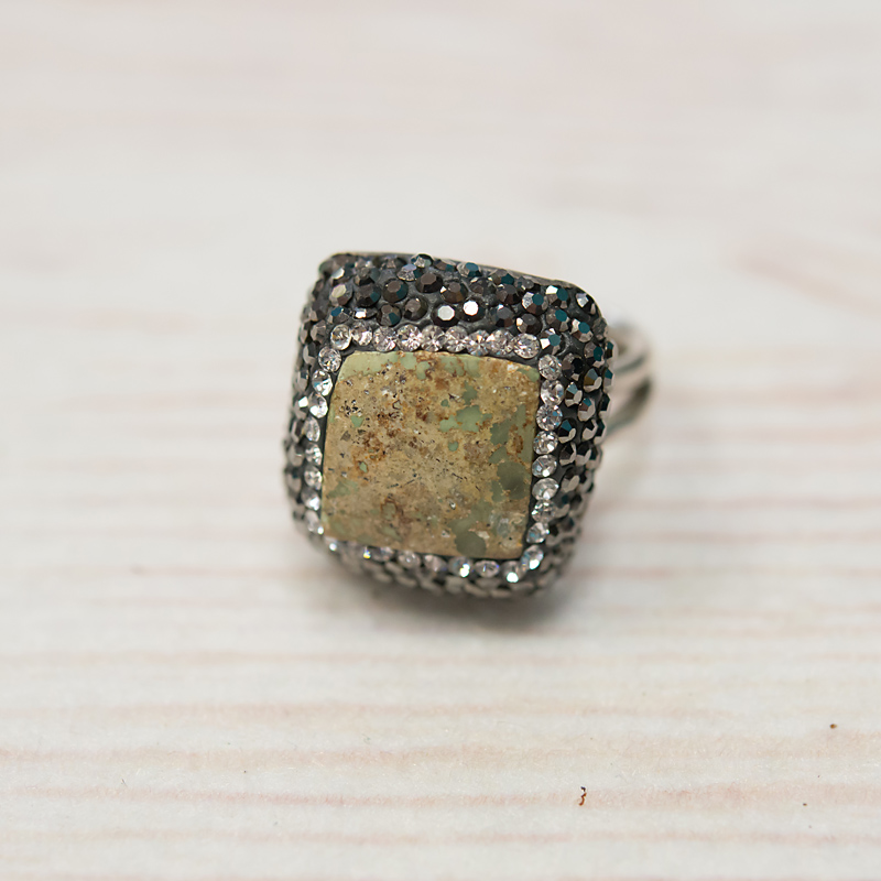 Turkish Turquoise Ring- Square