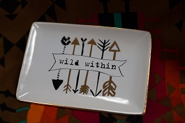 Wild Within Arrow Trinket Tray(F155585)
