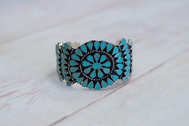 Faux Cluster Turquoise Cuff