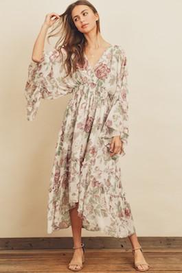 """""""Boho Lover"""" Floral Midi Dress"""
