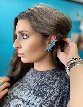 Genuine Turquoise Ear Crawlers