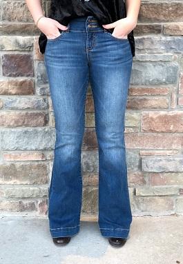 Denim Medium Wash Flare Jeans