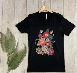 Fiesta Floral Graphic T-Shirt