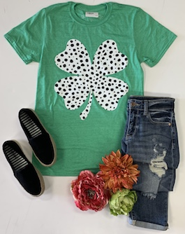 Green 4 Leaf Clover Graphic T-Shirt