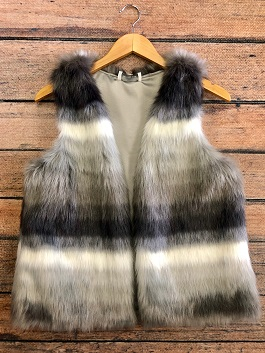 Grey Multi Fur Vest