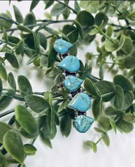 Genuine Turquoise Multi Stone Ring