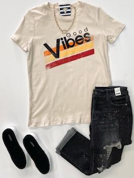 """Good Vibes"" Graphic T-Shirt"