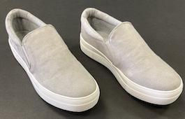 Grey Suede Like Sneaker
