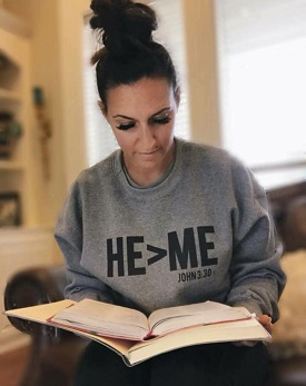 HE>ME GREY SWEATSHIRT