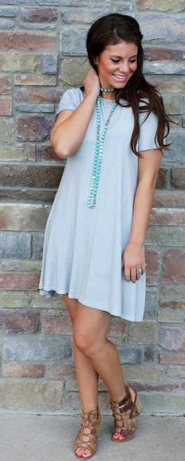"""Stormy"" Ice T-Shirt Dress With Back(91212)"