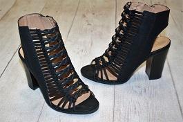 Black Braided Heeled Sandal(TITUS)