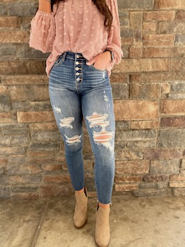 Judy Blue High Waisted Button Fly Jeans