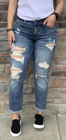 Judy Blue Medium Wash Boyfriend Jeans