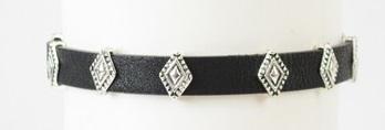 Diamond Leather Choker Necklace