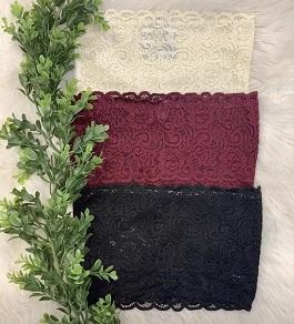 Lace Knit Scallop Bandeau