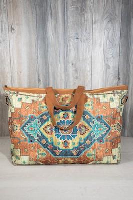 Boho Inspired Large Carpet Getaway Bag