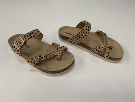 Cheetah Strappy Buckle Sandal