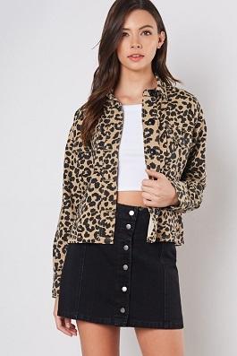 """Claire"" Leopard Print Blazer Jacket"