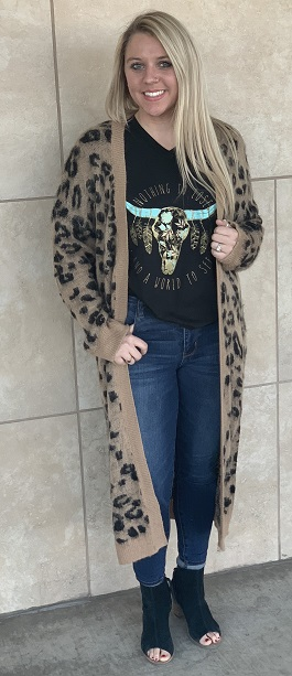 """Wild About You"" Leopard Soft Duster"