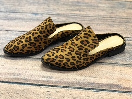 Leopard Studded Mules