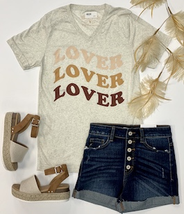 """Lover, Lover, Lover"" Graphic T-Shirt"